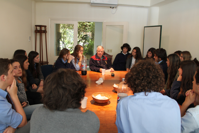 Brother Paul Keohane, Leadership Team member, visits Stella Maris College in Montevideo